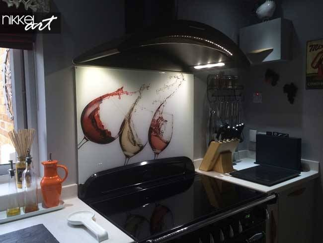 Cr dence de cuisine en verre imprim avec 20 remise for Credence sous hotte cuisine