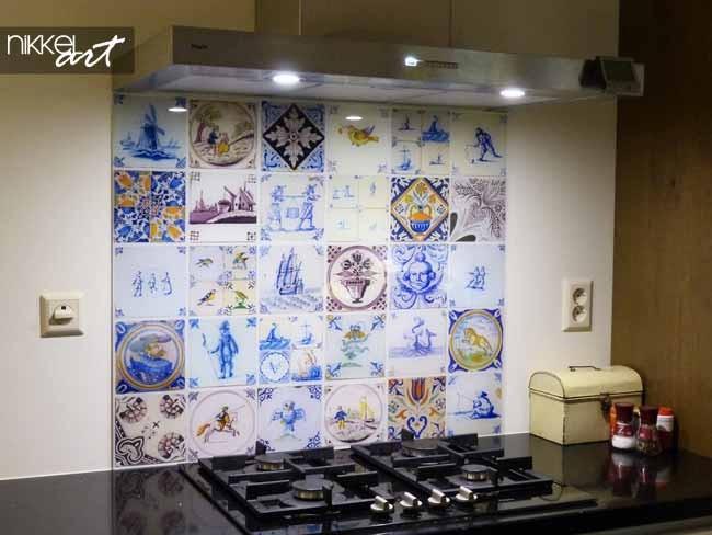 Cr dence de cuisine en verre imprim carrelage - Credence de cuisine en verre ...