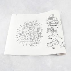 Rouleau de dessin alphabet I - Q