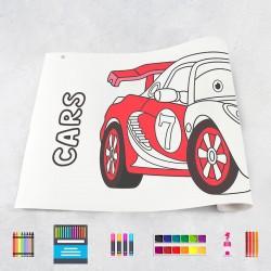 Rouleau de dessin voitures 2