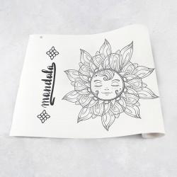 Rouleau de dessin mandala 1