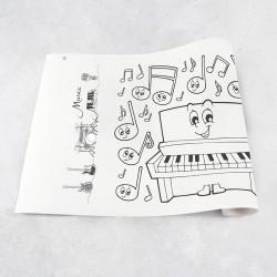 Rouleau de dessin musique
