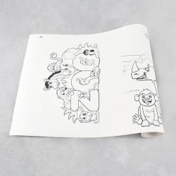 Rouleau de dessin zoo