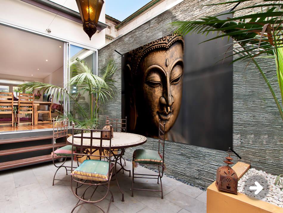 Affiche de jardin de Bouddha