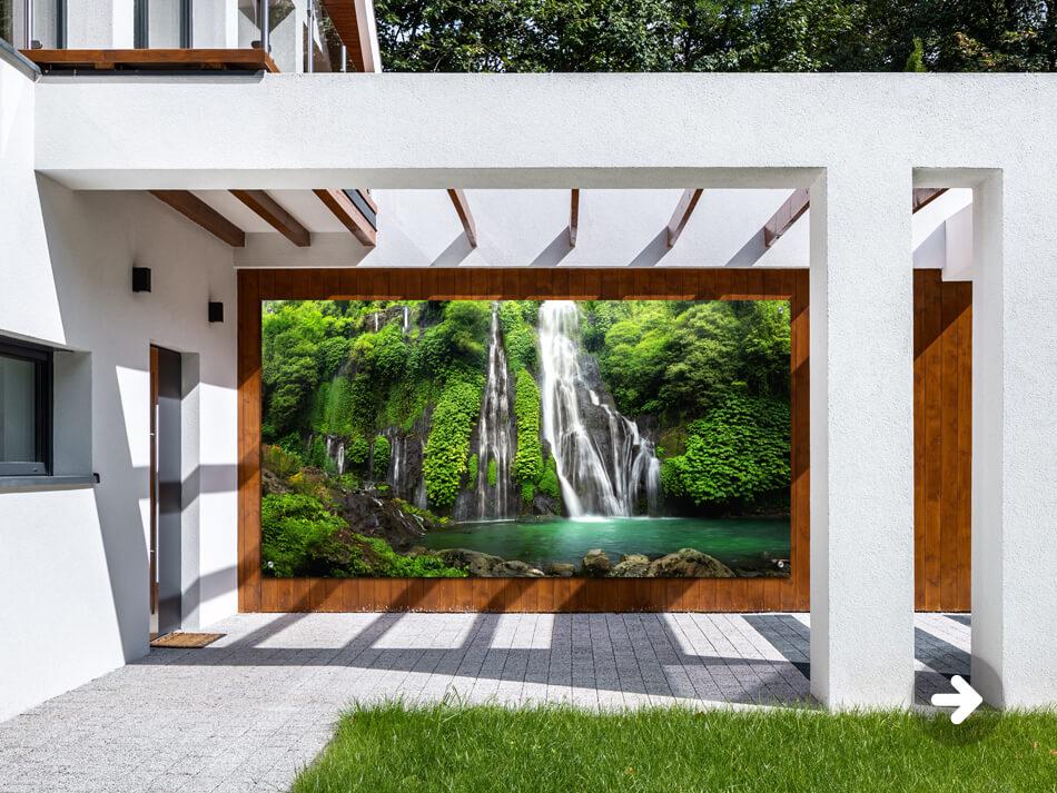 Affiche de jardin cascades