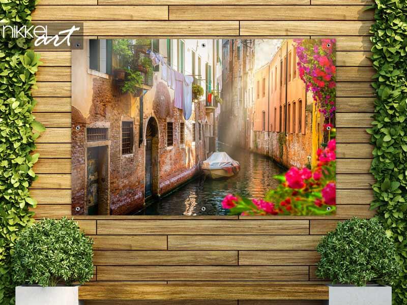 Poster de jardin Fleurs à Venise