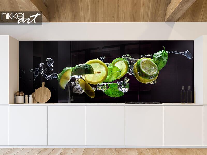 Fond de hotte en verre imprimé Mojito