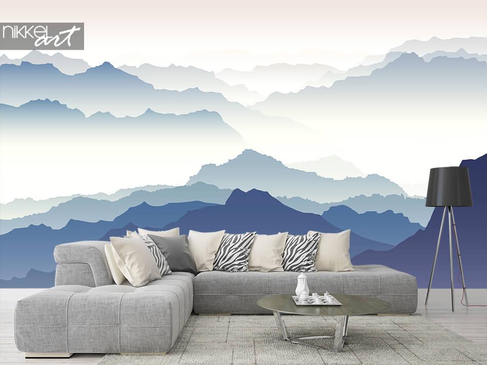 Murale papier peint Montagne