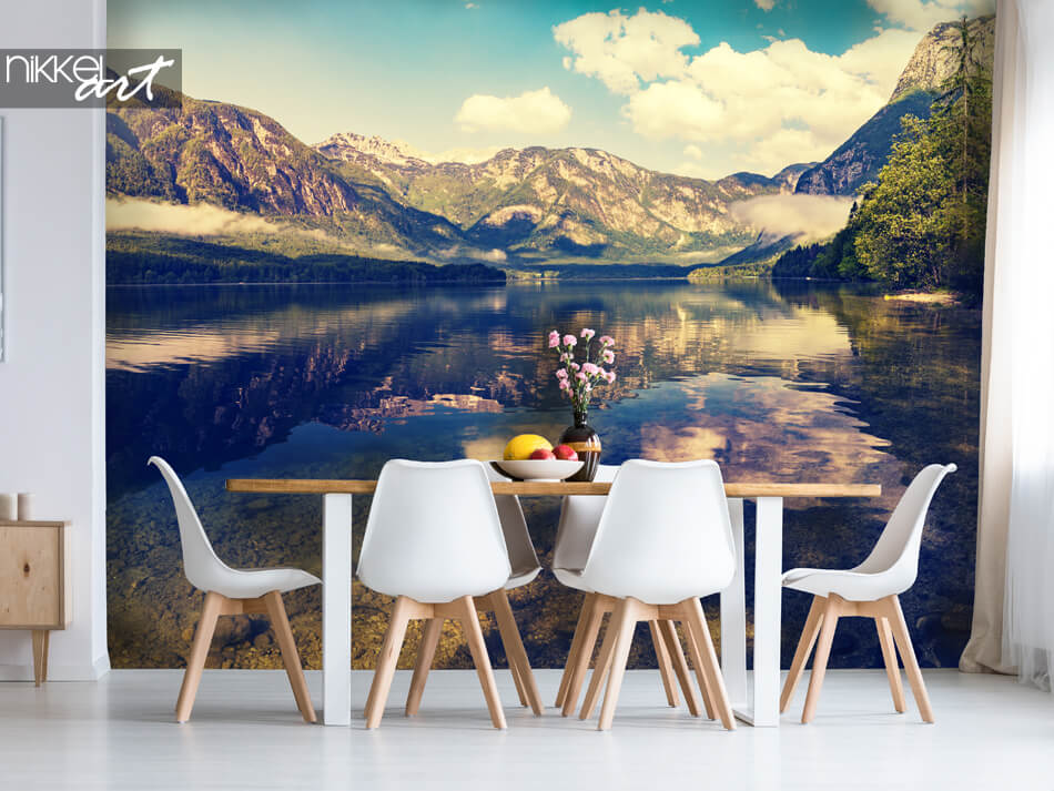 Murale papier peint Lac