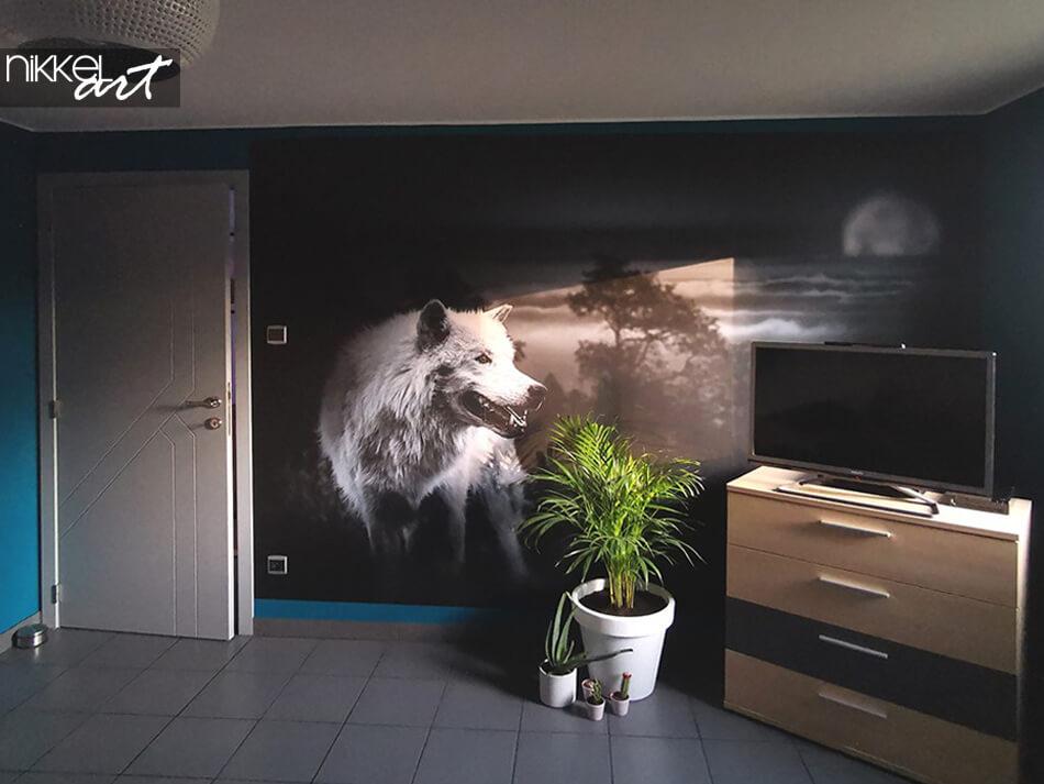 Murale papier peint Loup