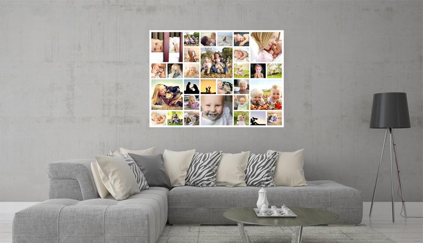 Collage photo sur Plexiglas