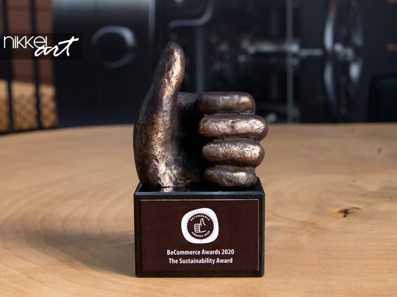 Sur notre armoire à trophées: BeCommerce Sustainability Award 2020