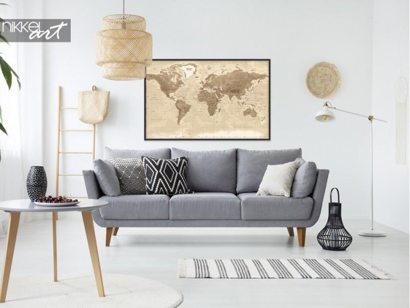 Affiches avec carte du monde, pour le vrai voyageur du monde!