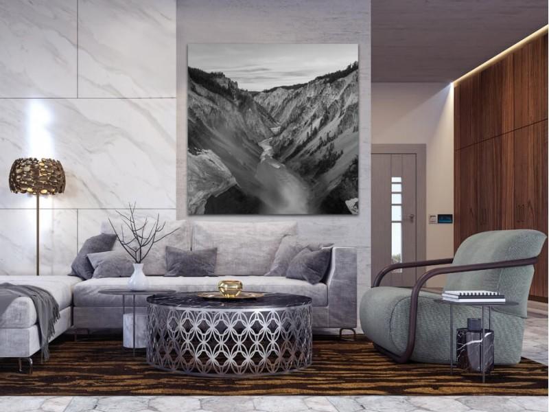 Des photos en noir et blanc des paysages sur aluminium qui vous feront rêver
