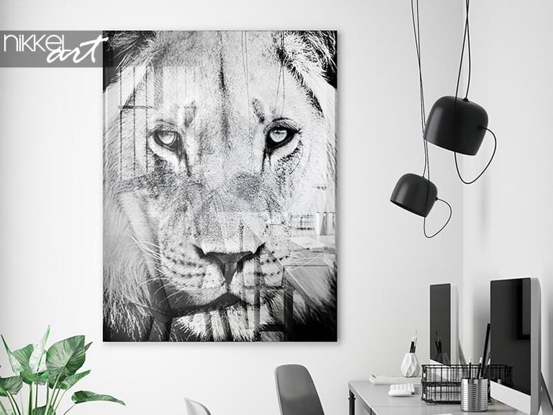 Art exclusif : une photo en noir et blanc sur plexiglas
