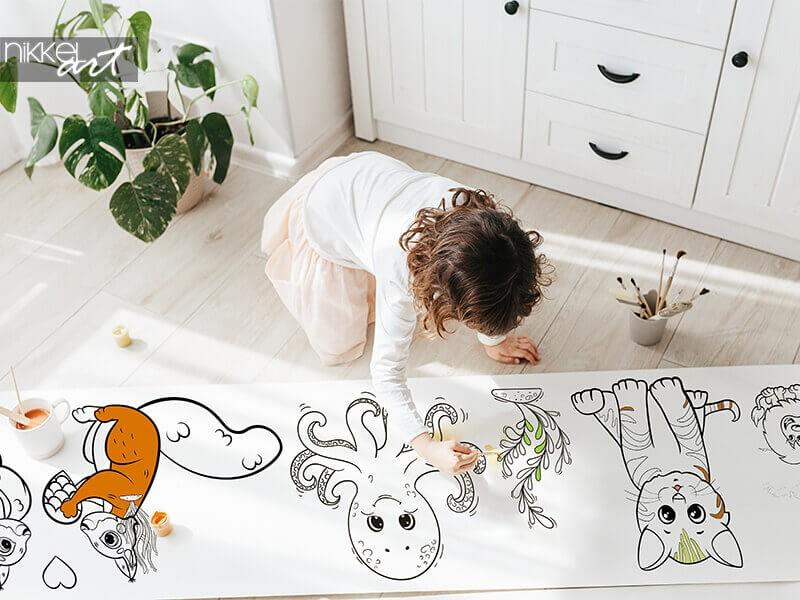 NOUVEAU: Rouleaux de dessin | Un divertissement sans fin pour les enfants