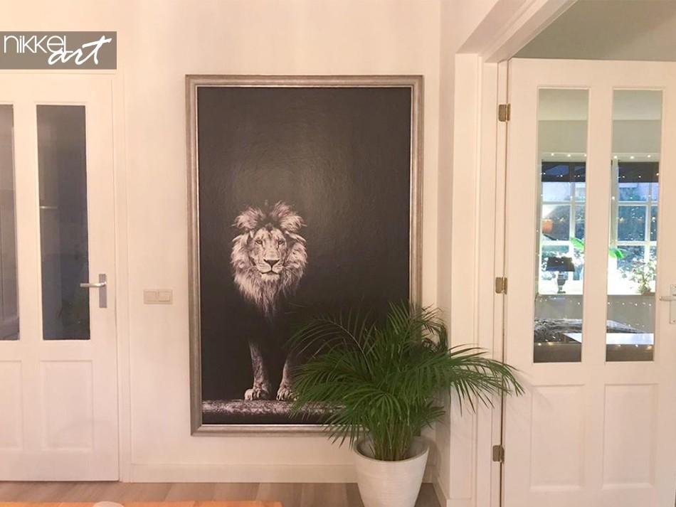 Papiers Peints Lion en Noir et Blanc