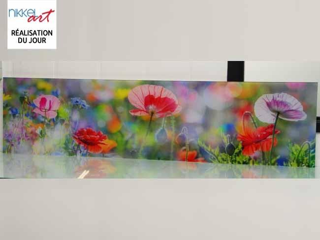 Cr dence de cuisine en verre imprim poppy for Credence cuisine verre imprime