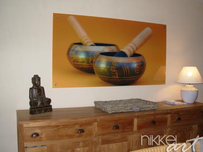 cr dence de cuisine en verre imprim tibetan. Black Bedroom Furniture Sets. Home Design Ideas