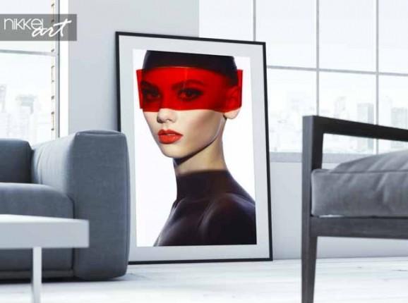 Poster élégante dame futuriste