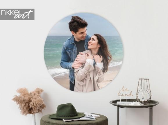 Cercle mural en aluminium avec votre photo personnelle
