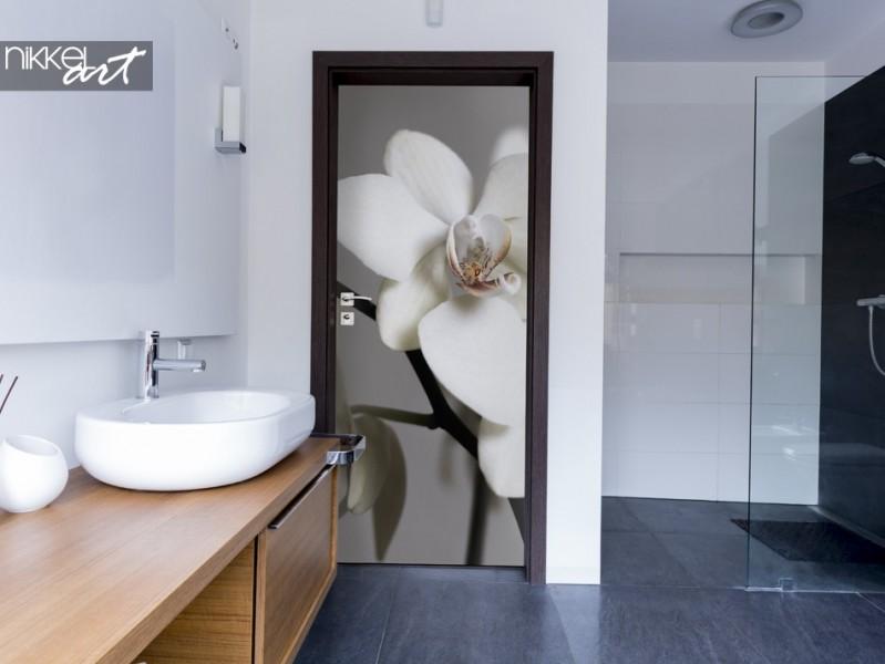 Salle de Bain avec Sticker Orchidée