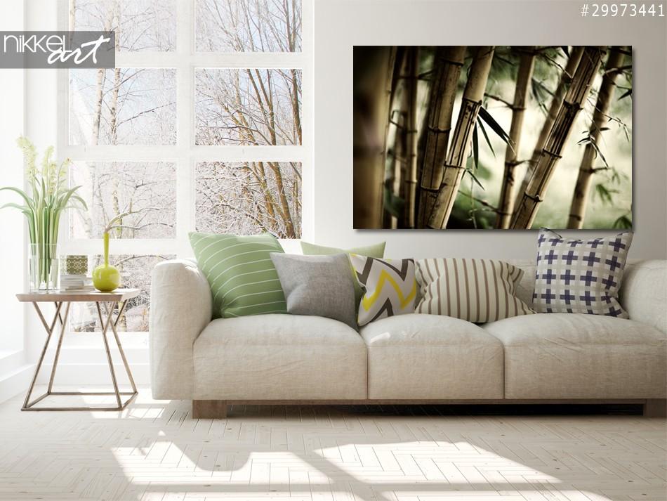Photo sur Aluminium Forêt de bambous