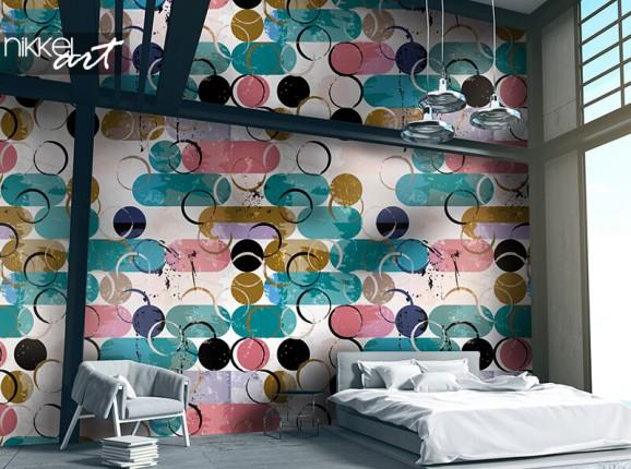 Papier peint avec des cercles colorés