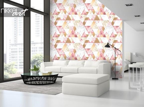 Papier peint géométrique avec triangles