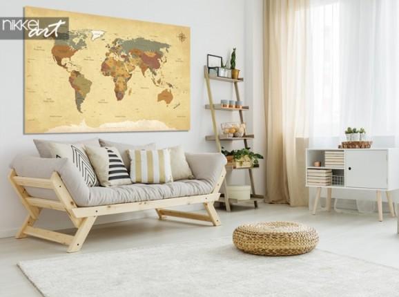 Photo sur Aluminium Carte du monde