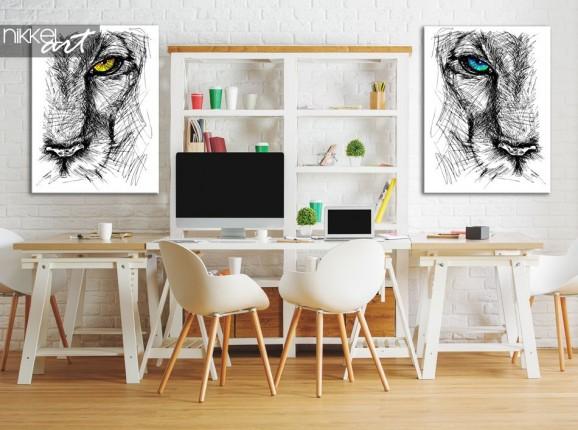 Photo sur toile Croquis dessine main d un lions
