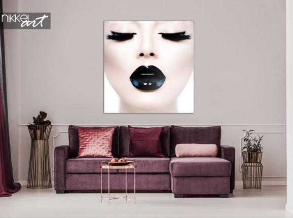 Photo sur Plexiglas Dame aux Lèvres Noires