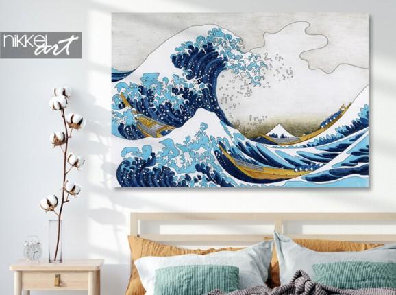Photo de Hokusai sur aluminium