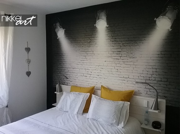 Papier peint photo des projecteurs-spot
