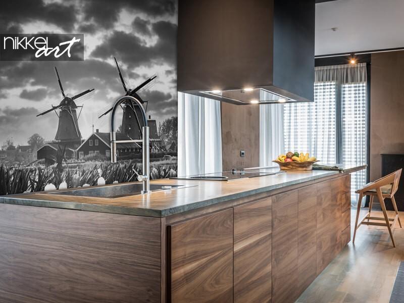 Papier peint photo avec des moulins à vent