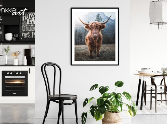 Poster avec Photo Highlander Ecossais