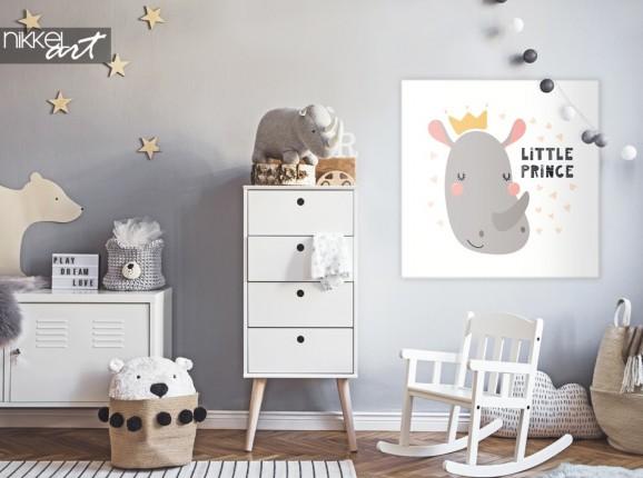 Chambre D Enfant avec Rhino Illustration sur Toile