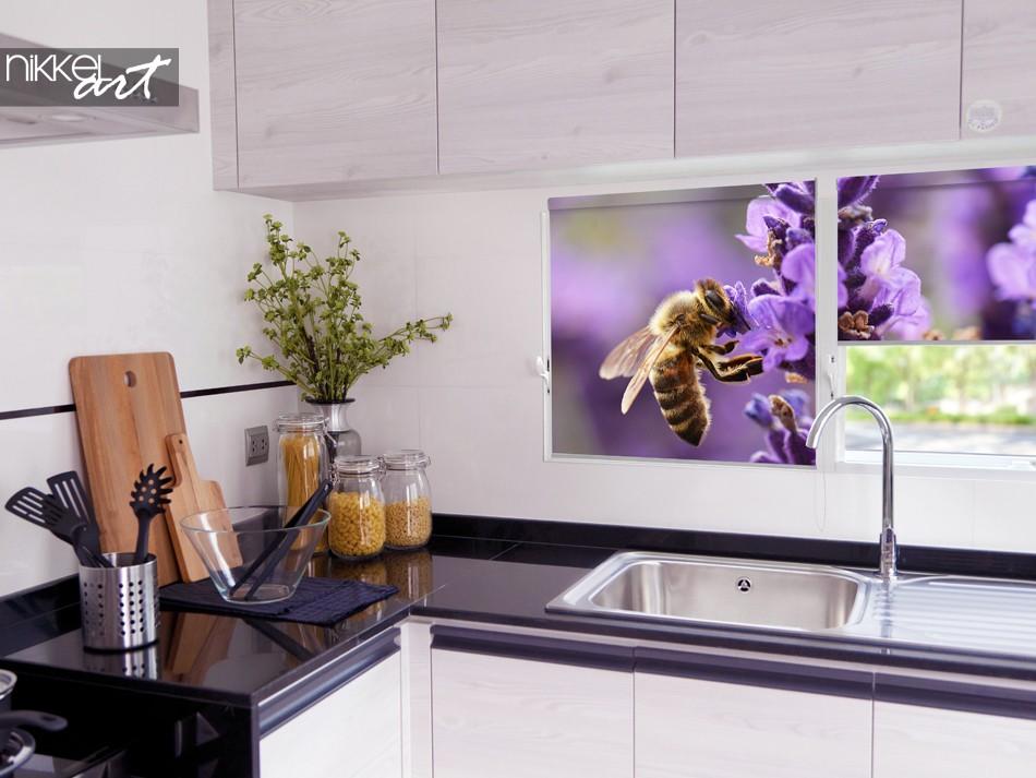 Rideau de photo coloré pour la cuisine