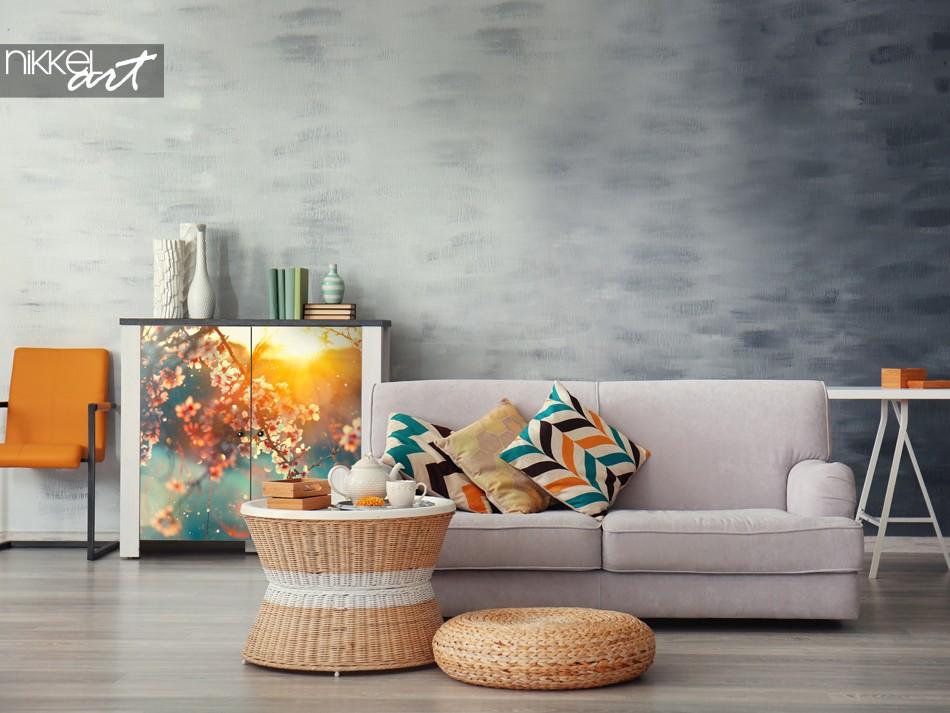 Sticker d ameublement printanier pour le meuble