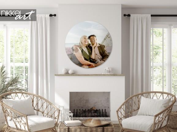 Cercle mural en plexiglas avec votre photo personnelle