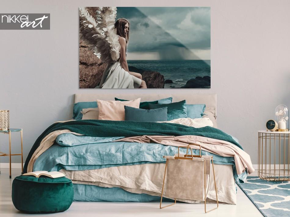 Chambre avec Photo Angel Lady sur Plexiglas