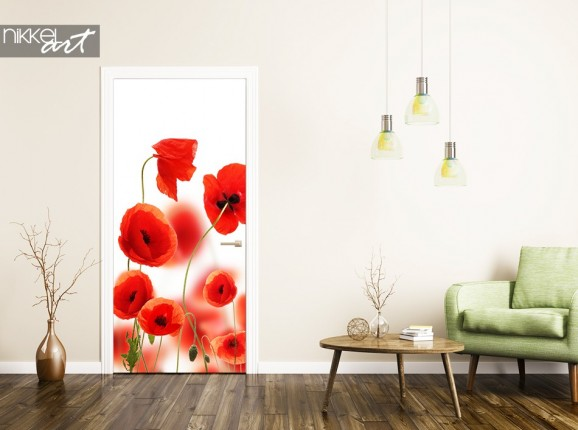 Stickers pour porte Poppy