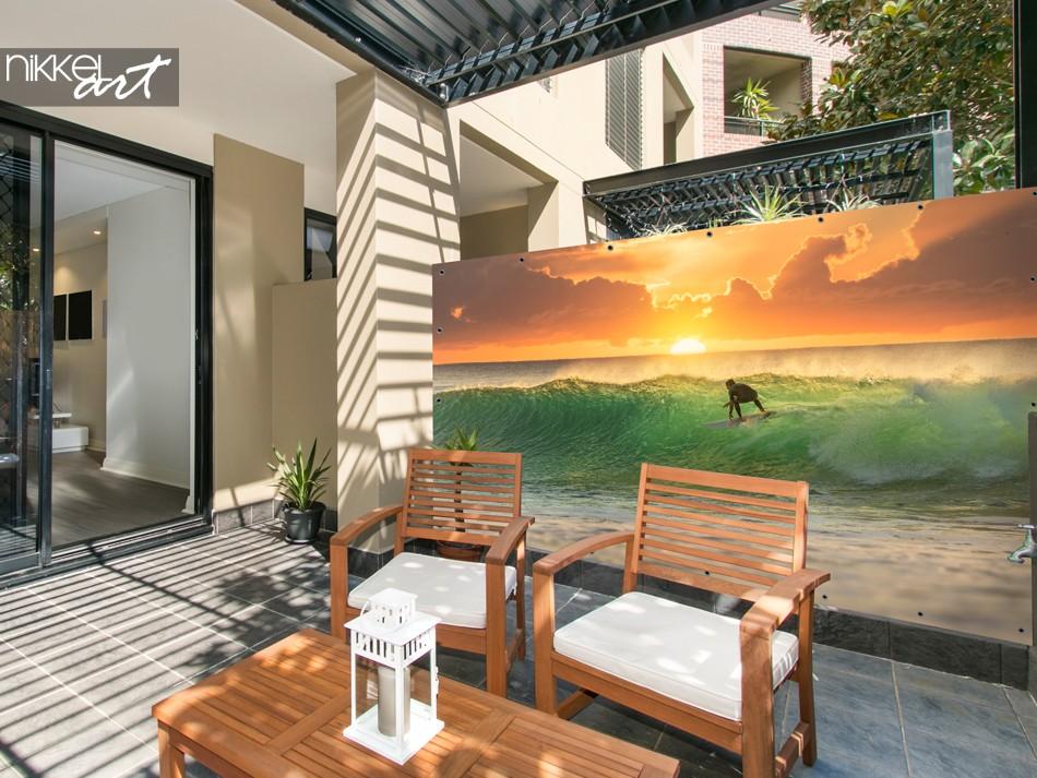Poster de Jardin avec Photo Surfer