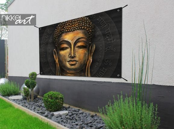 Poster de jardin avec Bouddha