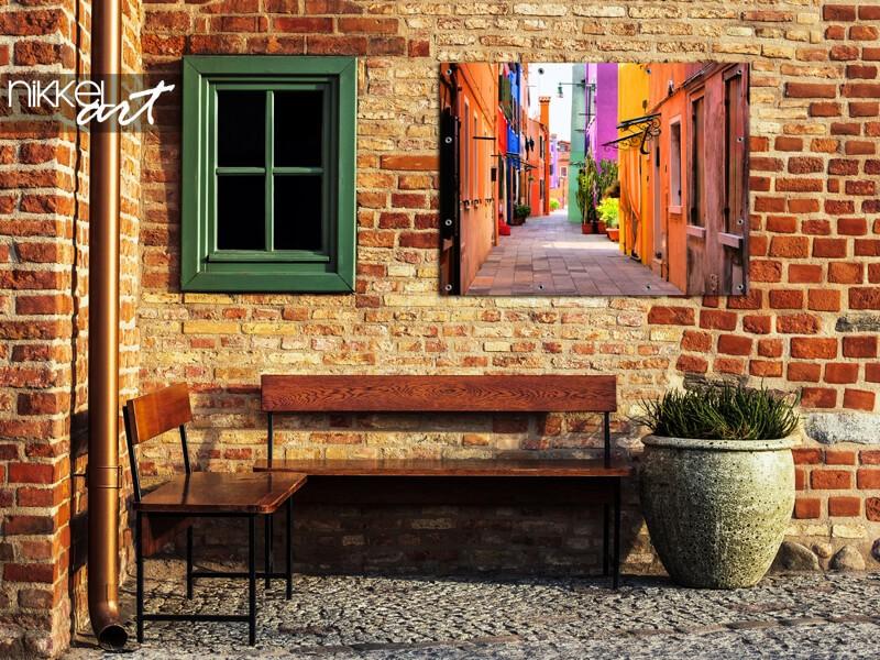 Poster de jardin d'une Ruelle en Italie