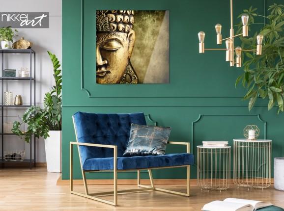 Salon avec Photo de Bouddha en Plexiglas