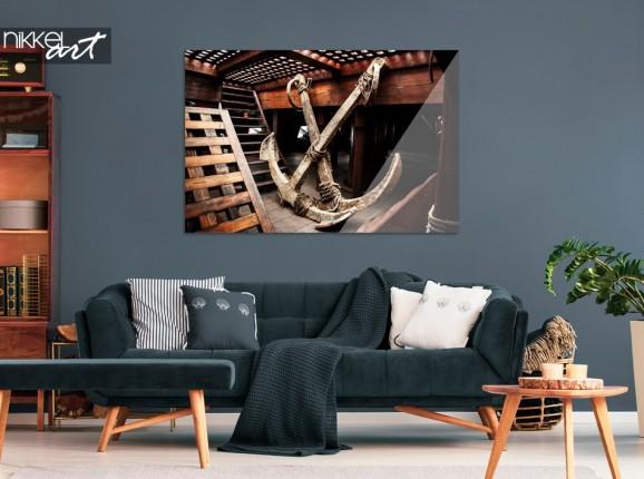 Salon avec Schéma Foto sur Plexiglas