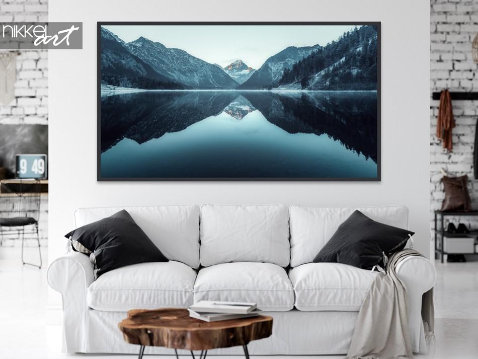 Salon avec Poster Montagnes