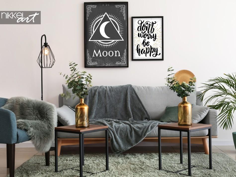 Salon avec Poster Rétro