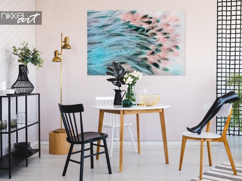Coin Salon avec Texture Photo en Plume